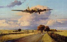 Return of the Belle by Robert Taylor Aircraft - Aircraft art - Aircraft design - vintage Aircraft - B 17, Ww2 Aircraft, Military Aircraft, Memphis Belle, Aircraft Painting, War Thunder, Airplane Art, Aircraft Design, Aviation Art