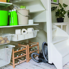 Trapkast als voorraadkast: gebruik alle hoekjes