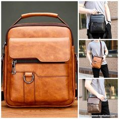 Leather Shoulder Bag, Leather Wallet, Leather Bag, Small Briefcase, Satchel, Crossbody Bag, Make A Gift, Sport Casual, Watch Sale