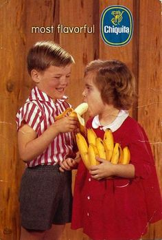 A mid-century ad for Chiquita bananas.