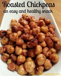 Roasted Chickpeas aka Roasted Garbanzo Beans - A great snack and easy to make!
