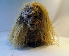 """""""Wind"""" sculpture made of oak leaves and raffia Wind Sculptures, Oak Leaves, Dreadlocks, Hair Styles, Beauty, Hair Plait Styles, Oak Leaf Cluster, Hairdos, Haircut Styles"""