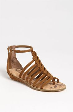 LOVE this braided sandal.