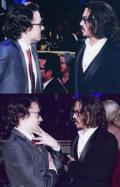 Johnny Depp with Robert Downey Junior It's just to much. I can't even stand it...