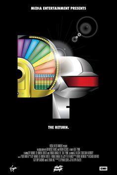 Daft Punk by Henry Liau, via Behance (Shameless self promotion)