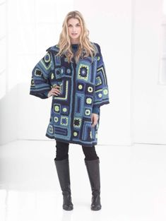 It's never too early to start the Christmas craft list. Try this coat made up of different-sized granny squares (and rectangles).