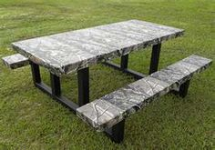 camo picnic table