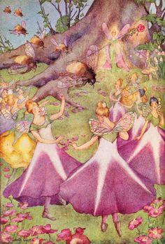 The fairies had a fancy-dress ball last night by Elizabeth Curtis