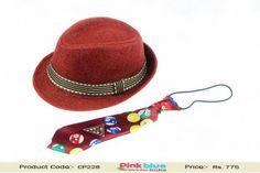 9a287df1c6ef8 Stylish Children Fedora Hat With Matching Tie - Designer Summer Hat for Kids