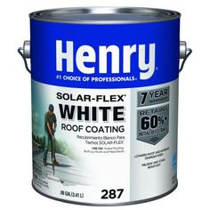 Henry 0.90 Gal. 287 White Solarflex Roof Coating-HE287SF146 - The Home Depot