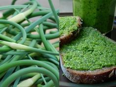 Garlic scape pesto. Easy to grow. Quick to make. Tasty to eat.