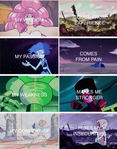 Steven Universe. Almost perfect, except I'd have Amethyst as the last one
