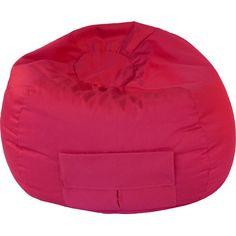 Denim Bean Bag Chair Color: Red, Size: Medium / Tween - http://delanico.com/bean-bag-chairs/denim-bean-bag-chair-color-red-size-medium-tween-504615797/