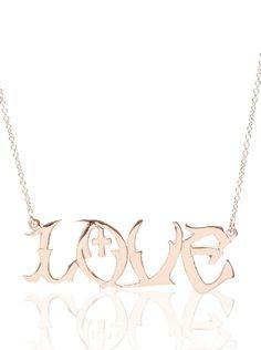 """""""Love"""" Graffiti Necklace"""