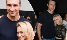 If they were having relationship trouble they certainly aren't showing it. Hayden Panettiere and fiance Wladimir Klitschko put on a loved up display as the attended the opening