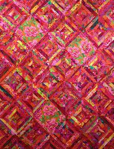 "SIZZLING SUMMER 63"" x 81"" Quilt Kit, all fabrics by Kaffe Fassett, Philip Jacobs, Brandon Mably"