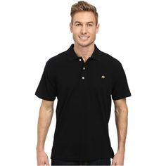 Mountain Khakis Bison Polo Shirt (Black) Men's Short Sleeve Pullover ($36) ❤ liked on Polyvore featuring men's fashion, men's clothing, men's shirts, men's polos, black, mens short sleeve shirts, mens embroidered shirts, mens polo shirts, mens pullover and mens short sleeve polo shirts