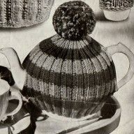 Vintage tea cozy pattern- bobble hat tea cosy pdf download Tea Cosy Knitting Pattern, Knitting Patterns, Bobble Hats, Tea Cozy, Vintage Knitting, Vintage Tea, Tea Time, Winter Hats, Tea Cosies