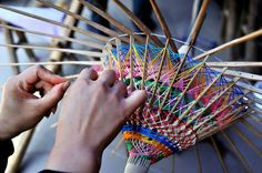 Making an oil-paper umbrella takes patience and care. In Luzhou City, Sichuan Province, China