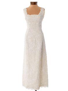 JUST ADDED! Vintage 1960's Ivory Soutache Embroidered Lace Maxi Wedding Dress #vintageweddingdress  #60sfashion #bluevelvetvintage