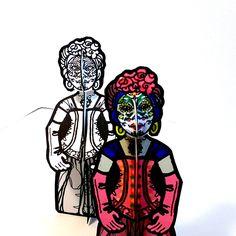 La Calavera Catrina Sugar Skull Monster Paper Doll Set - Printable Toy by PaperTownToys on Etsy