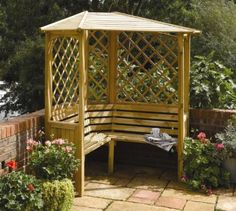 Lovely Balmoral Corner Arbour for sale at Gardensite. #arbour #seat #garden
