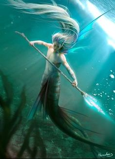 Merman with spear. :) cool.