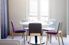 Laia Indoor Dining Chairs by Alki Dinning Chairs, Dining Table, Cafe Furniture, Deco Design, Light Shades, Solid Oak, Outdoor Tables, Teak, Upholstery