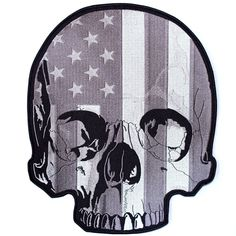 High Quality Embroidered Patch Iron/ Sew On Great for Jackets and Vests x Half Skull, Patches For Sale, American Flag, Usa Flag, Iron On Patches, Sewing Crafts, Badge, Arts And Crafts, Jacket Patches