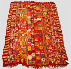Interesting Iraqi embroidered wedding blanket, Samawa, Marshlands of southern Iraq, 20th century,