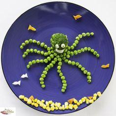 Cute, creative food for kids octopus