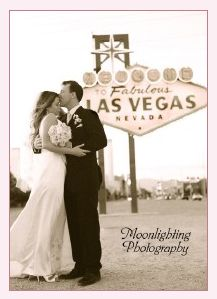 Las Vegas Wedding Couple Pose In Front of the Welcome to Fabulous Las Vegas sign located in Las Vegas, Nevada.