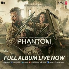 N here it is!! *PHANTOM* Full Album Live now--> http://bit.ly/1hsYxPZ  Do Let us know which one's your Favorite??  ‪#‎TseriesMusic‬ ‪#‎Phantom‬ ‪#‎SaifAliKhan‬ ‪#‎KatrinaKaif‬ ‪#‎FullAudioAlbum‬