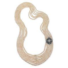 Saffronart Fine Jewels and Silver, A SEVEN ROW NATURAL PEARL NECKLACE