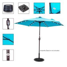 24+4LED Camping Tent Lamp Patio Umbrella Pole Light Outdoor Garden Lawn Hiking K