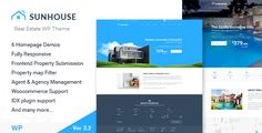 Real Estate WordPress Theme | Sun House   Sun House Real Estate WP is a fully responsive clean and modern Real Estate WordPress Theme with exceptional options & functions. Born to serve Real Est...