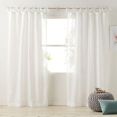 LC Lauren Conrad Gabby Sheer Curtain, Grey