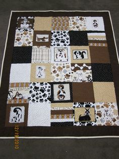 Dog Quilt - my daughter's inspiration.