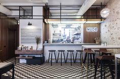 Interior design and identity for Nude. Coffee & Wine Bar