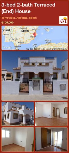 Terraced (End) House in Torrevieja, Alicante, Spain Single Bedroom, Double Bedroom, Valencia, Portugal, Torrevieja, Corner Garden, Alicante Spain, Built In Wardrobe, New Construction