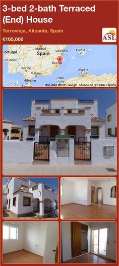 3-bed 2-bath Terraced (End) House in Torrevieja, Alicante, Spain ►€105,000 #PropertyForSaleInSpain