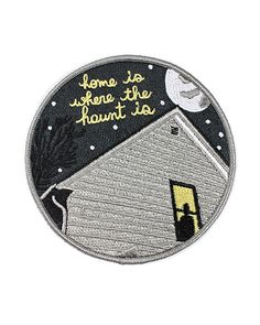 "My kinda haunted house.Collaboration between Stay Home Club and American Football.Embroidered patch w/ merrowed edgeDetailed, high-density embroideryIron-on backingMeasurements: 3.5"" diameterBy Stay Home Club"