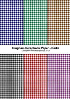 Gingham scrapbook paper - dark collection