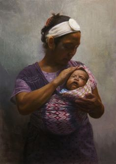 Orley is a Filipino realist painter from Toledo, Cebu, Philippines. He discovered a love for art at a very earl. Filipino Art, Philippine Art, Fine Arts College, Painting Competition, Madonna And Child, Mothers Love, Mother And Child, Native American Indians, Mona Lisa
