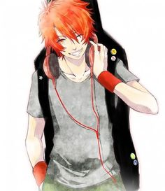 He's got headphones and a guitar!!! Marry me!!!!<---omg.....he is cute though, I like his smile. <3