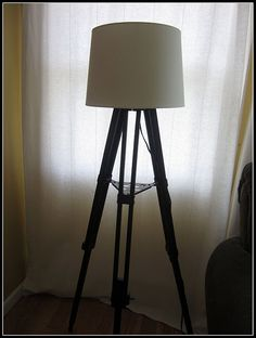 tripod lamp! I am totally making one of these