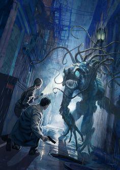 Misadventures in the Cthulhu Mythos Cthulhu Art, Call Of Cthulhu Rpg, Lovecraft Cthulhu, Hp Lovecraft, Fantasy Creatures, Mythical Creatures, Lovecraftian Horror, Gato Anime, Eldritch Horror