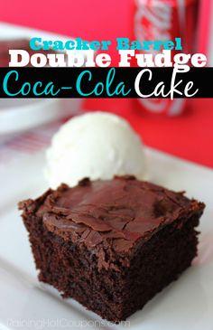 Copycat Cracker Barrel Double Fudge Coca-Cola Cake - Raining Hot Coupons
