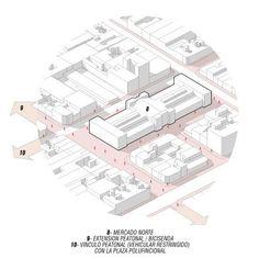 03- Public Space of the North Market - Córdoba. Fusion of the pedestrian. -  03- Public Space of the North Market – Córdoba. Fusion of the pedestrian.  - #ConceptDiagram #cordoba #fusion #market #north #pedestrian #public #space #UrbanPlanning