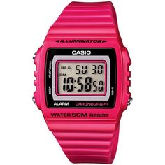 Casio Women's Digital Chronograph Watch ($17) ❤ liked on Polyvore featuring jewelry, watches, pink, stainless steel jewelry, digital chronograph watch, chronograph wrist watch, chronos watch and dial watches #womenwatches